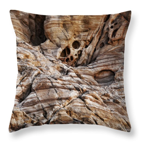 Rock Texture Throw Pillow by Kelley King