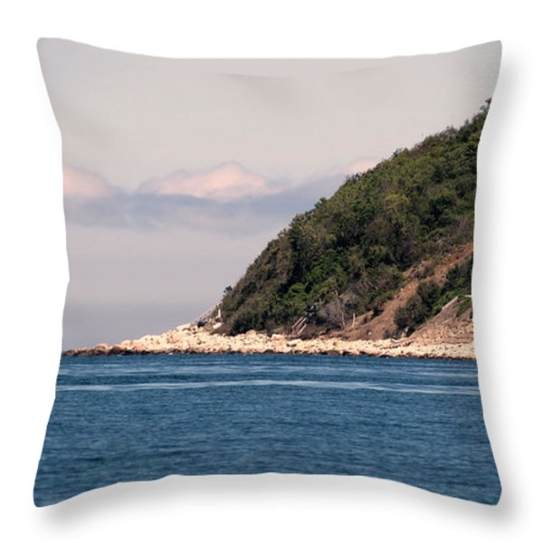 Rocky Hill Throw Pillow by Janice Drew