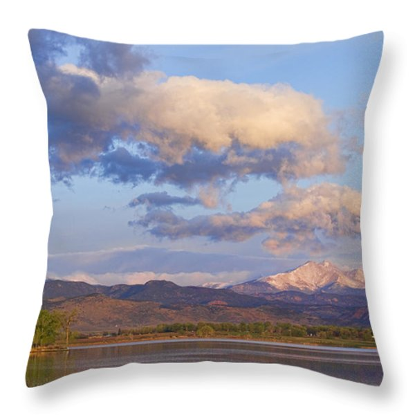 Rocky Mountain Early Morning View Throw Pillow by James BO  Insogna