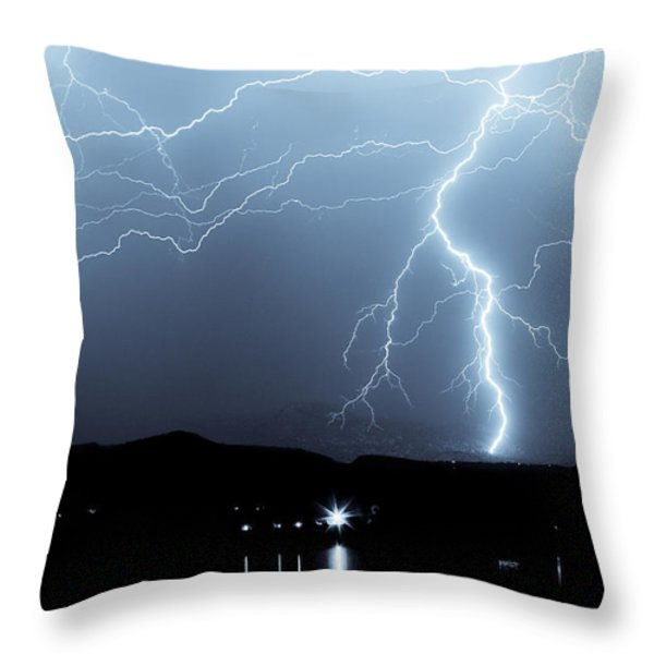 Rocky Mountain Storm  Throw Pillow by James BO  Insogna
