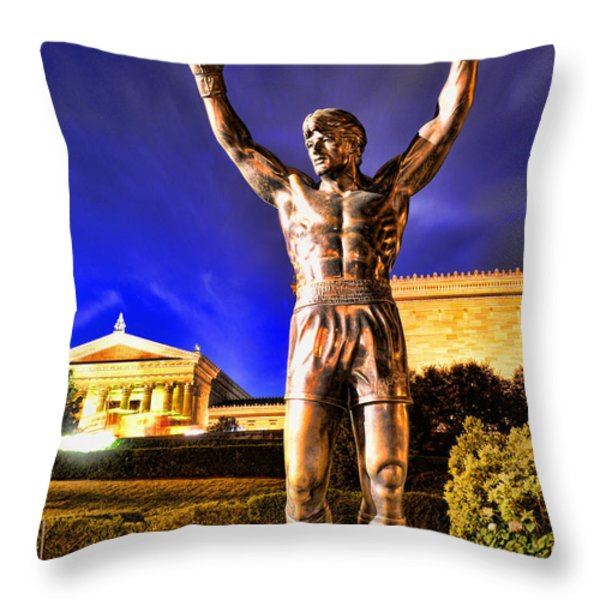 ROCKY Throw Pillow by Paul Ward