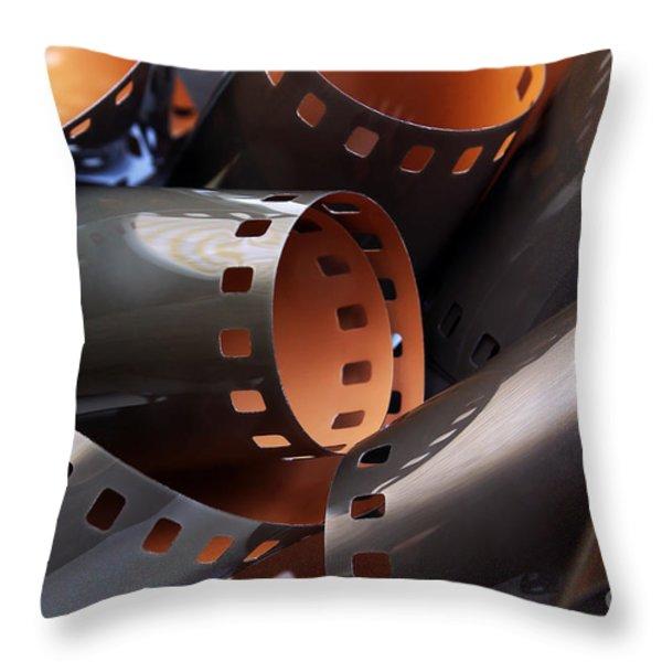 Roll Of Film Throw Pillow by Carlos Caetano