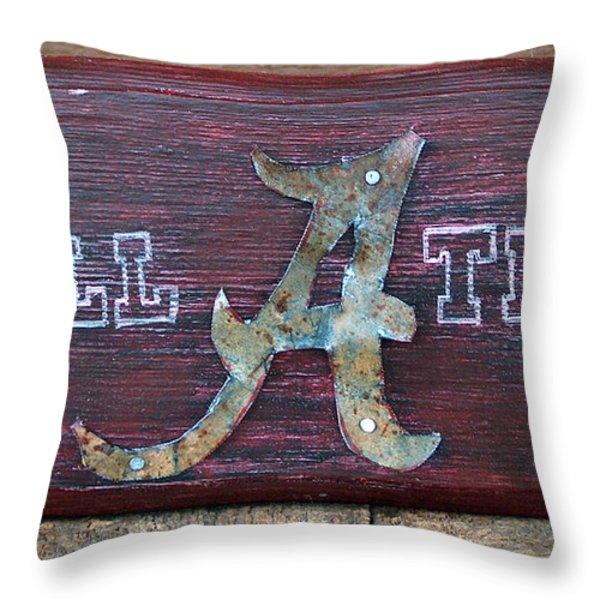 Roll Tide - Medium Throw Pillow by Racquel Morgan