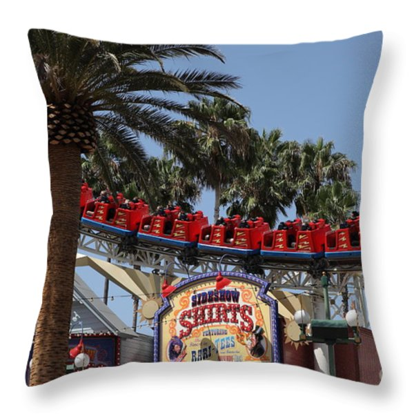 Roller Coaster - 5D17628 Throw Pillow by Wingsdomain Art and Photography