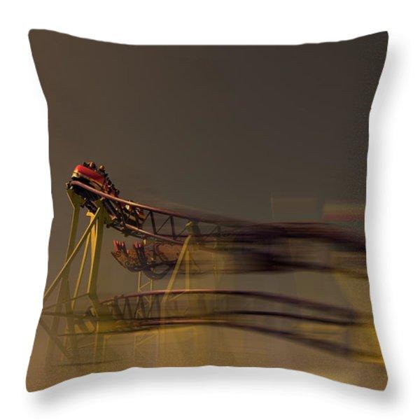 Rollercoaster Throw Pillow by Douglas Barnard
