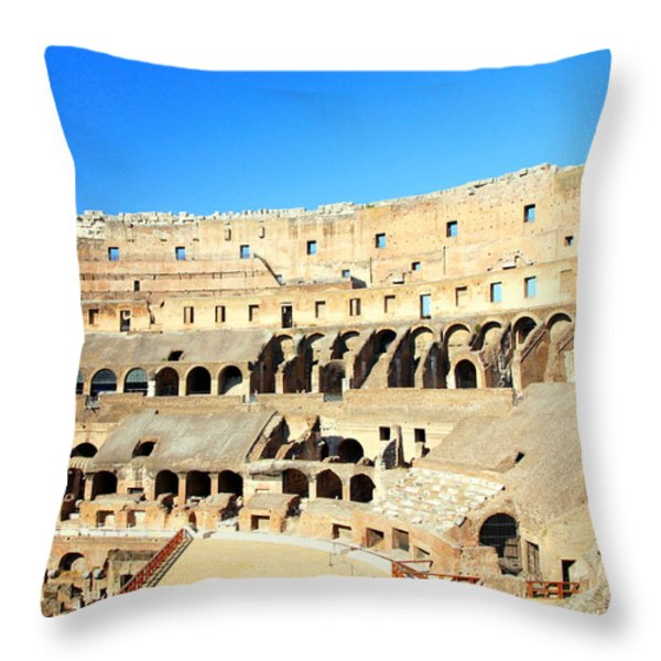 Rome Coliseum Throw Pillow by Valentino Visentini
