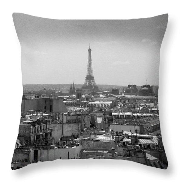 Roof of Paris. France Throw Pillow by BERNARD JAUBERT