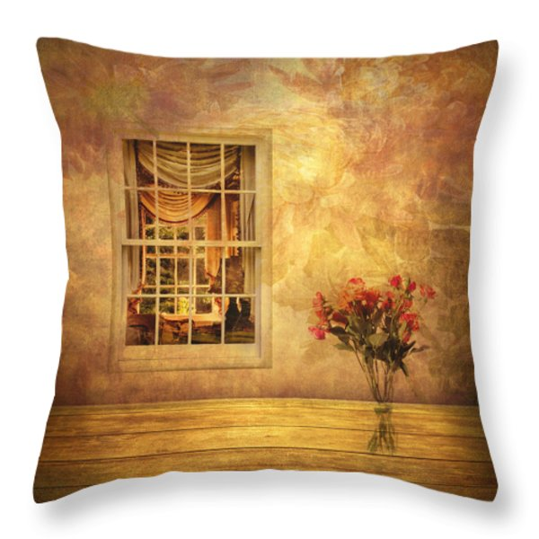Room With A View Throw Pillow by Jessica Jenney