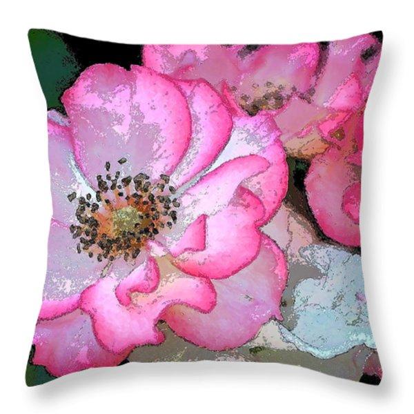 Rose 129 Throw Pillow by Pamela Cooper