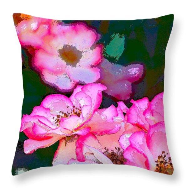 Rose 130 Throw Pillow by Pamela Cooper