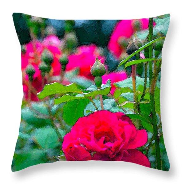 Rose 132 Throw Pillow by Pamela Cooper