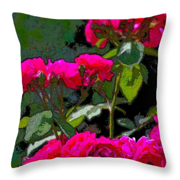 Rose 135 Throw Pillow by Pamela Cooper
