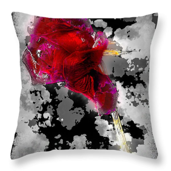 Rose Throw Pillow by Mauro Celotti