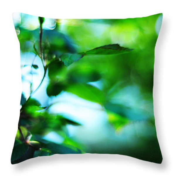 Rosebud Throw Pillow by Rebecca Sherman