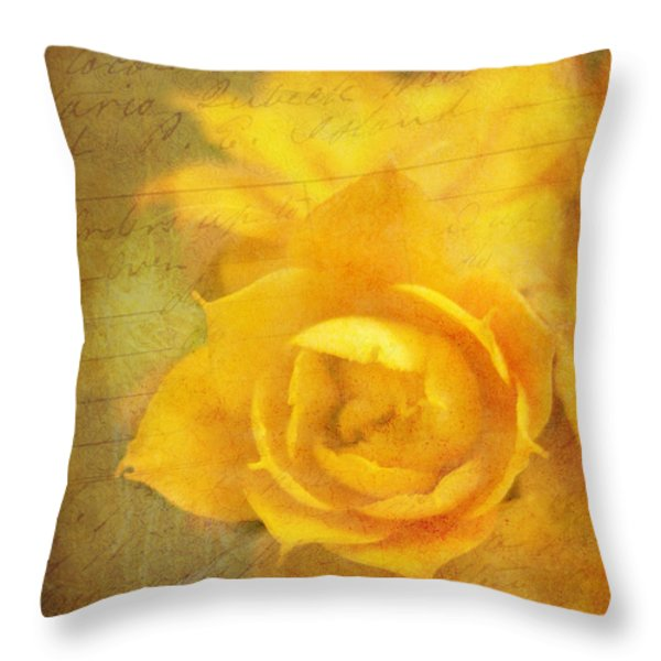 Roses for Remembrance Throw Pillow by Judi Bagwell