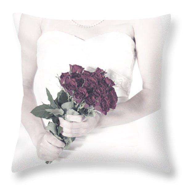Roses Throw Pillow by Joana Kruse