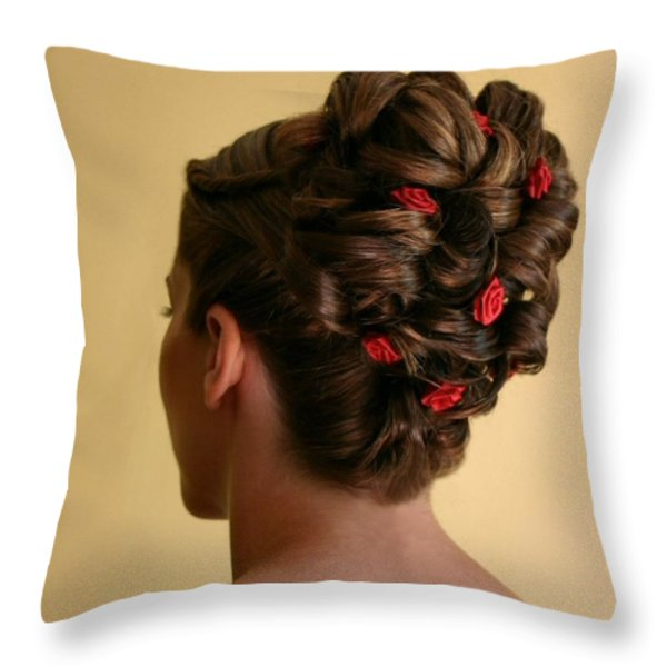 Rosettes Throw Pillow by Kristin Elmquist