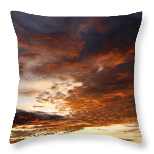 rosy sky Throw Pillow by Michal Boubin