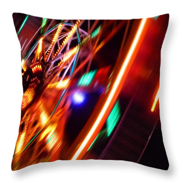 Rotor Throw Pillow by Charles Stuart