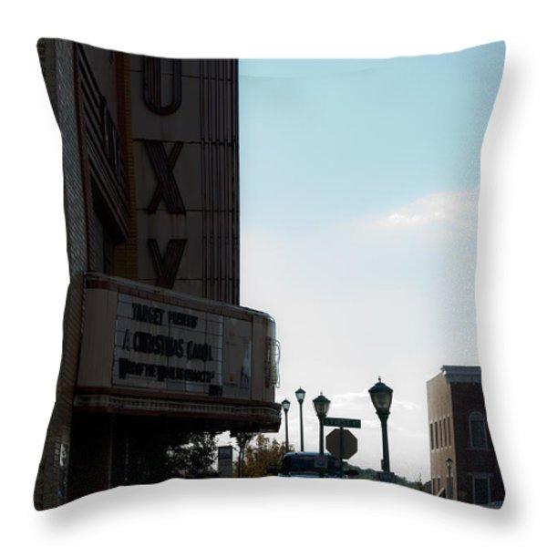Roxy Regional Theater Throw Pillow by ED GLEICHMAN