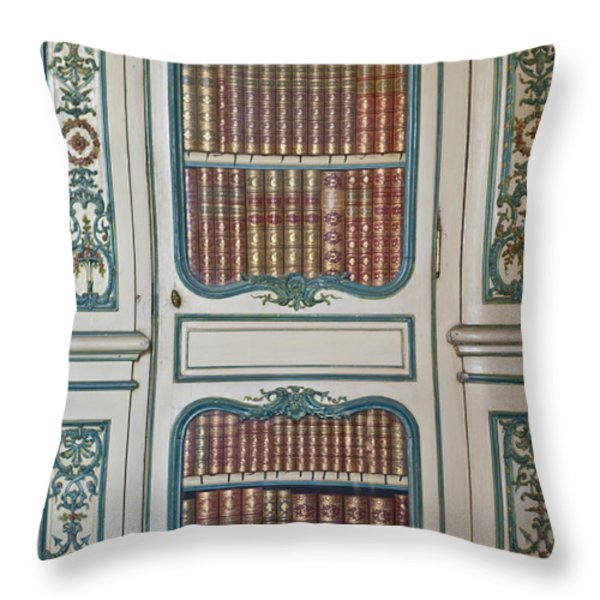 Royal Books Throw Pillow by Nomad Art And  Design