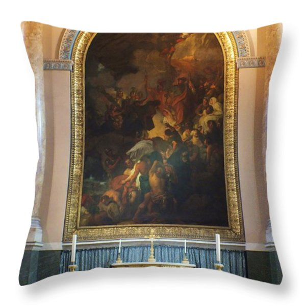 Royal Naval Chapel Interior Throw Pillow by Anna Villarreal Garbis