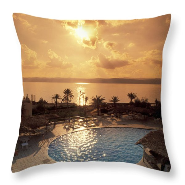 Royal Suite In The Dead Sea Spa Hotel Throw Pillow by Richard Nowitz