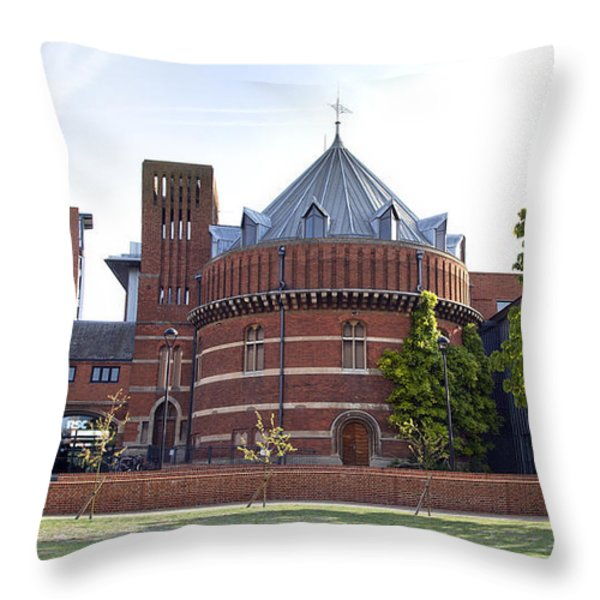 Rst And Swan Theatre Throw Pillow by Jane Rix