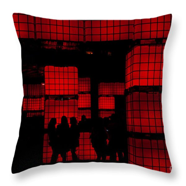 Rubik's Dream Throw Pillow by Andrew Paranavitana