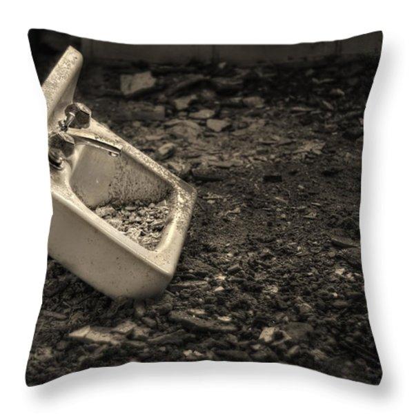 Rude Awakening Throw Pillow by Evelina Kremsdorf