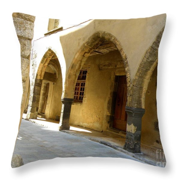 Rue des Templiers Throw Pillow by Lainie Wrightson