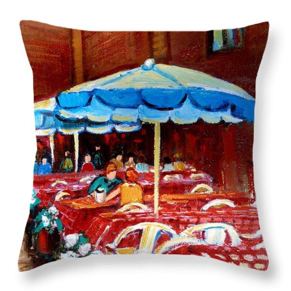 RUE PRINCE ARTHUR Throw Pillow by CAROLE SPANDAU