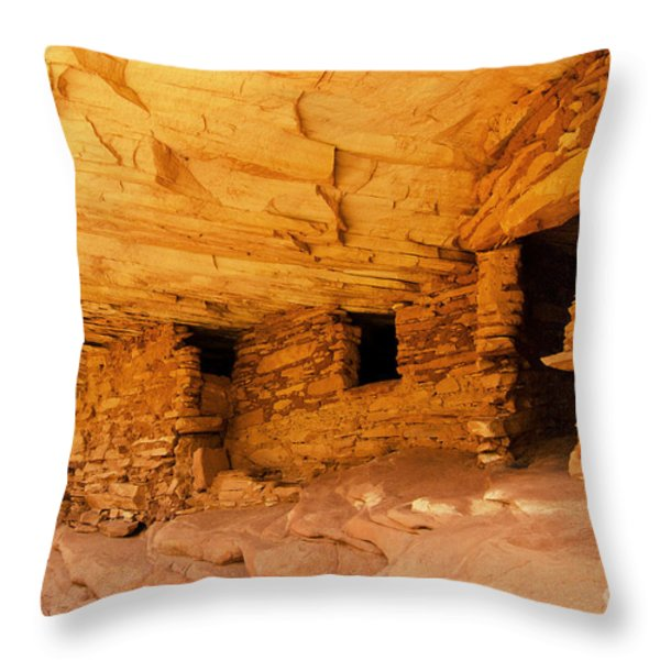 Ruins Structures Throw Pillow by Bob and Nancy Kendrick