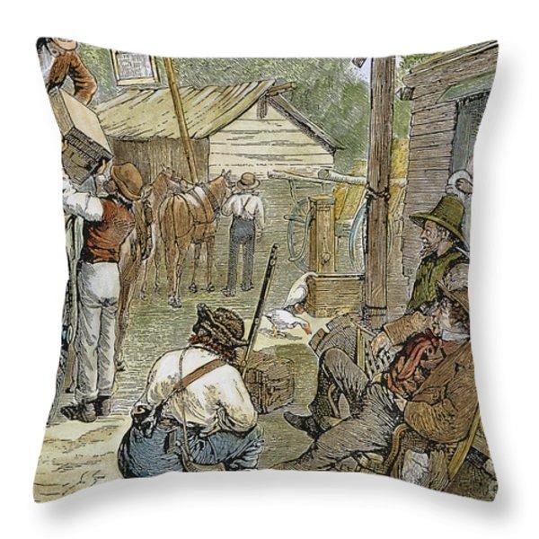 Rural Coach Stop, 1842 Throw Pillow by Granger