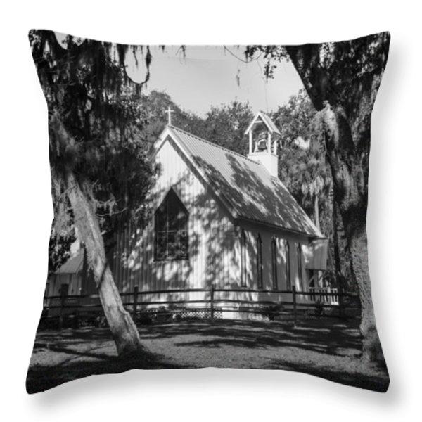 Rural Congregation Throw Pillow by Lynn Palmer