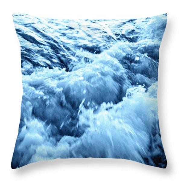 Rushing Water Throw Pillow by Skip Nall