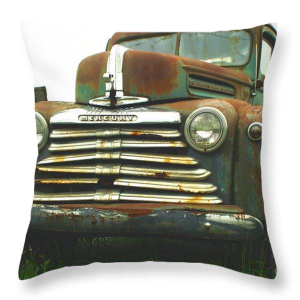 Rustic Mercury Throw Pillow by Randy Harris