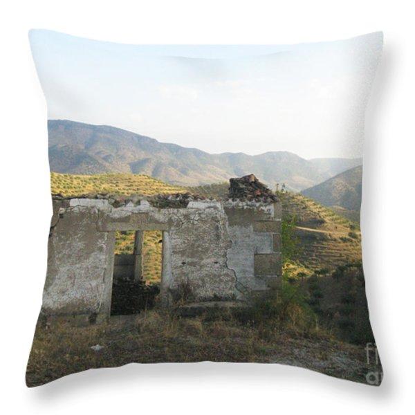 Rustic Scene Throw Pillow by Arlene Carmel
