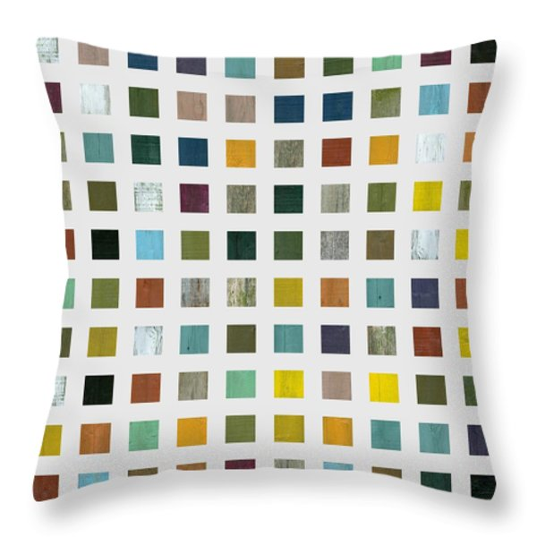 Rustic Wooden Abstract V Throw Pillow by Michelle Calkins