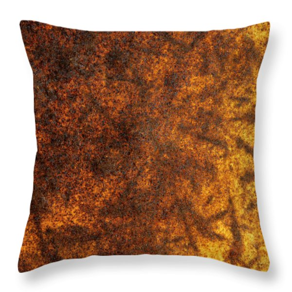 Rusty Background Throw Pillow by Carlos Caetano
