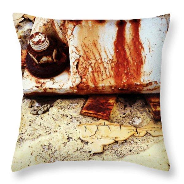 Rusty Bolt Abstraction Throw Pillow by Anna Villarreal Garbis
