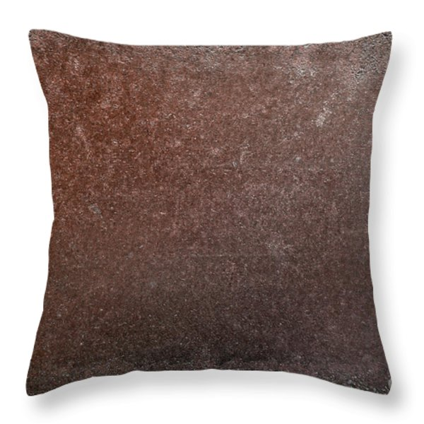 Rusty Iron Throw Pillow by Carlos Caetano