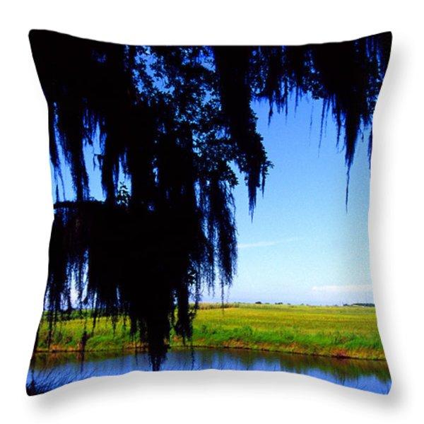 Sabine National Wildlife Refuge Throw Pillow by Thomas R Fletcher