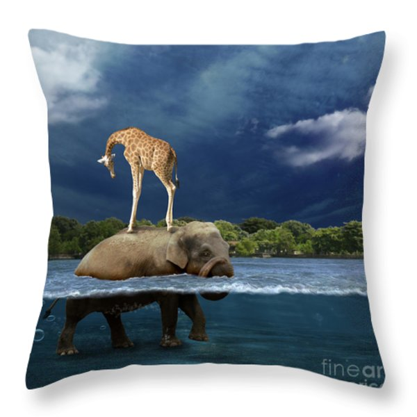 Safe Throw Pillow by Martine Roch