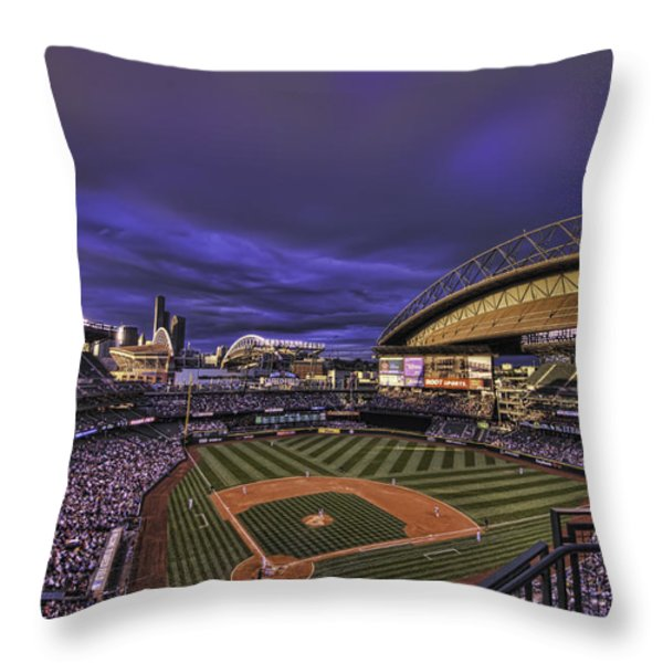 Safeco Field Throw Pillow by Dan McManus