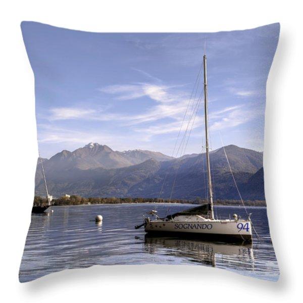sailing boats Throw Pillow by Joana Kruse