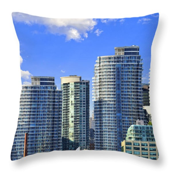 Sailing In Toronto Harbor Throw Pillow by Elena Elisseeva