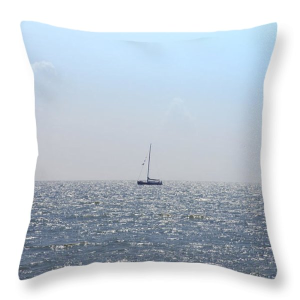 Sailing On Throw Pillow by Bill Cannon