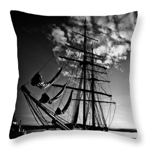 Sails In The Sunset Throw Pillow by Hakon Soreide