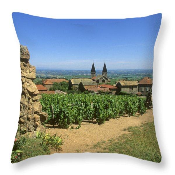 Saint Joseph en Beaujolais. France Throw Pillow by BERNARD JAUBERT